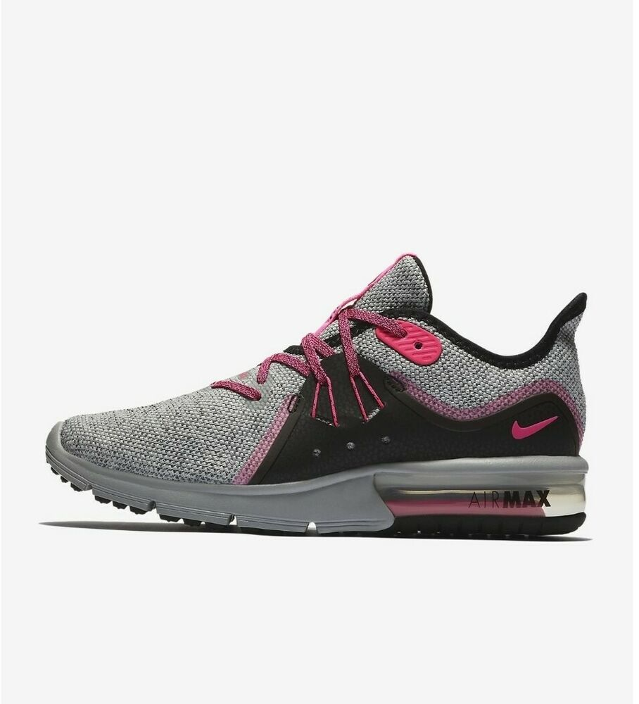 Nike Air Max Sequent 3 Trainer Shoes Grey Pink Black 908993