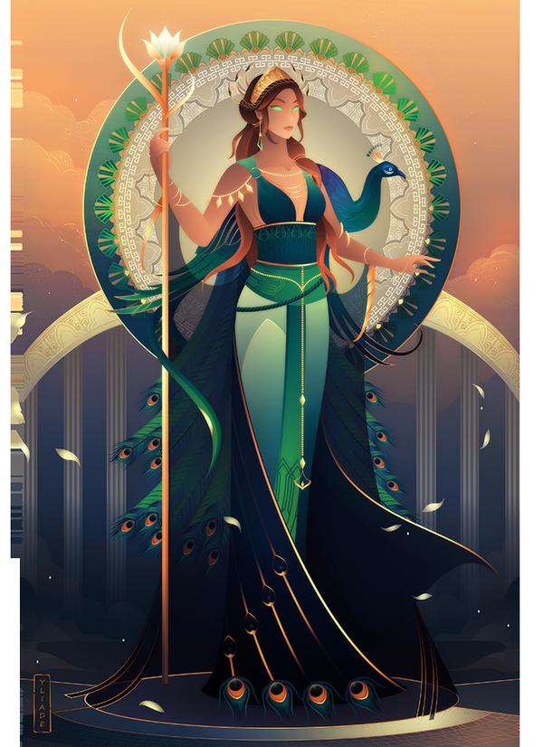 Hera Greek Mythology By Yliade On Deviantart Dieux Grecs Dessin Egyptien Mythologie Grecque