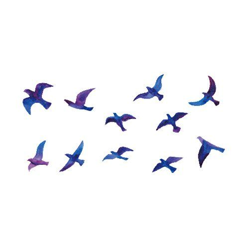 a80b2de2cb51e Set of 5 Waterproof Temporary Fake Tattoo Stickers Elegant Blue Purple Fly  Swallows Birds -- Read more reviews of the product by visiting the link on  the ...