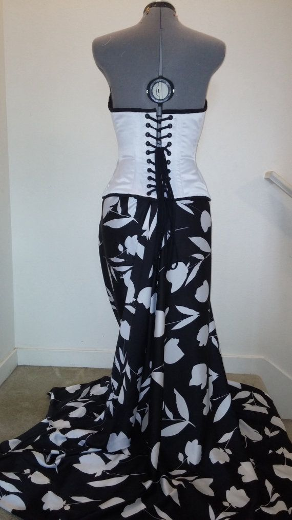 Corseted gown by Ryanlerue on Etsy