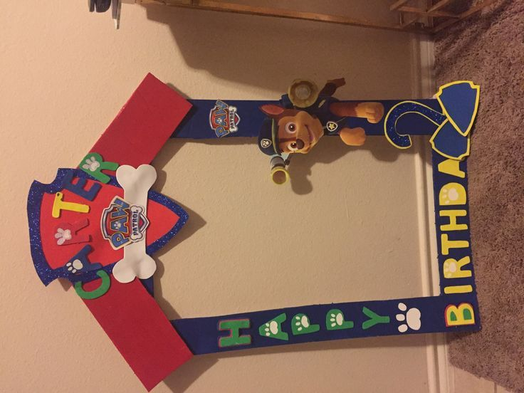 DIY Party frame Paw Patrol DIY party and Paw patrol