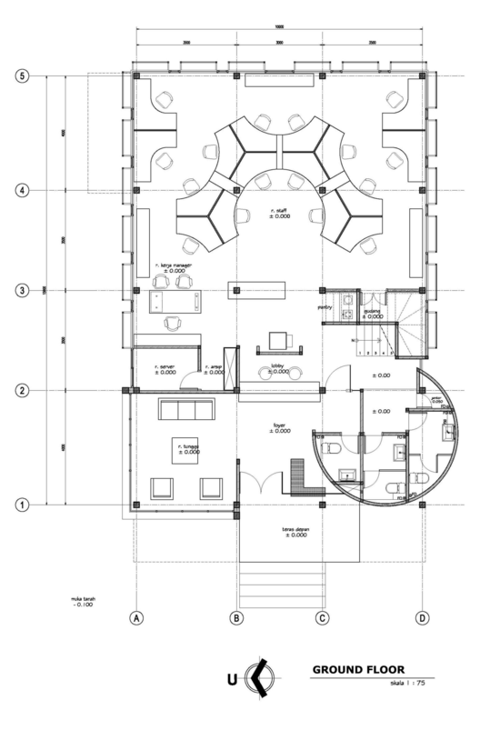 Gallery Of Kcn Office Atelier Cosmas Gozali 18 Office Layout Plan Office Floor Plan Office Plan