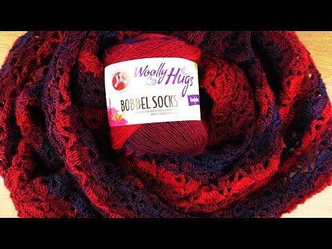 Tuch Häkeln Nachtleuchten Aus Woolly Hugs Bobbel Socks Super