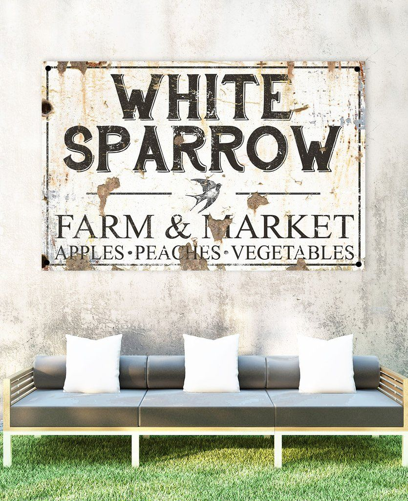 White Sparrow Personalized Metal Name Sign Customized Last Name Metal Sign Wallart Metalart Pati Beach House Signs Lake House Signs Business Signs Outdoor