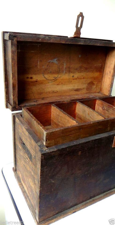 Antique Carpenter Tools And Chest