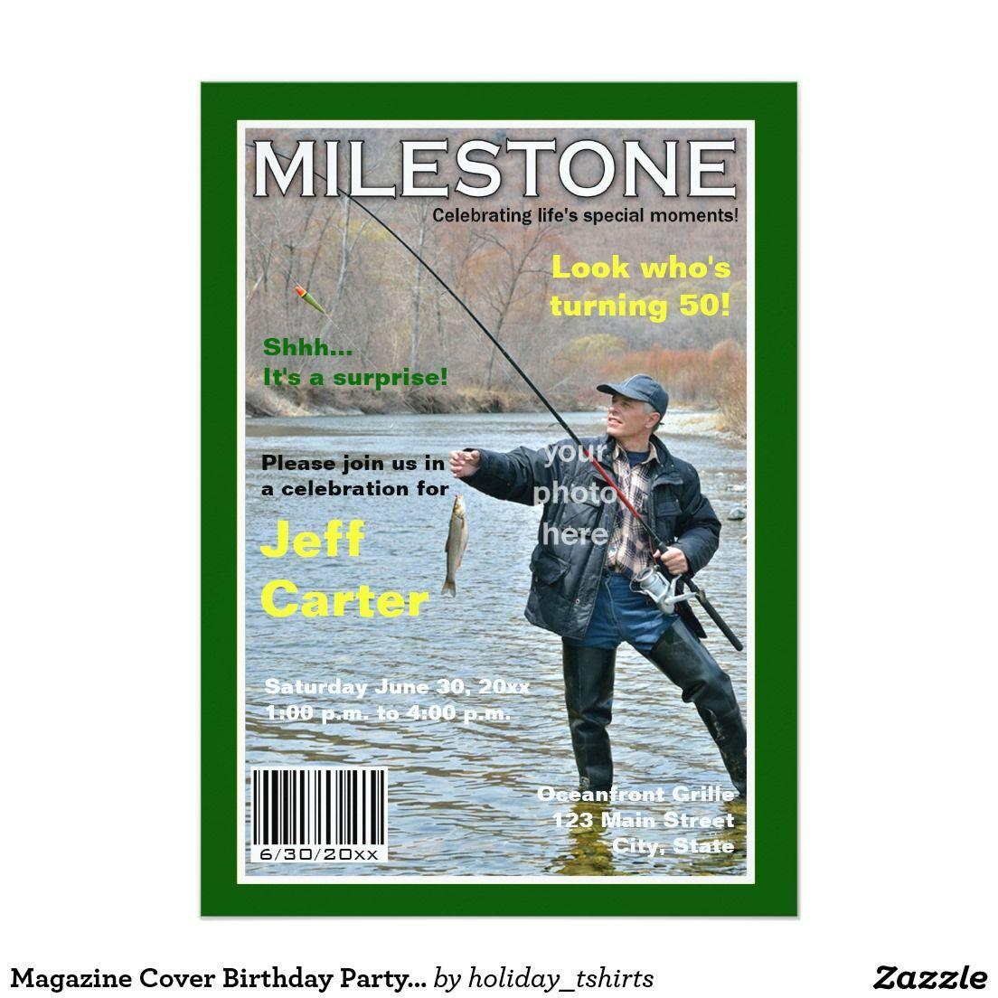 Magazine Cover Birthday Party Invitation