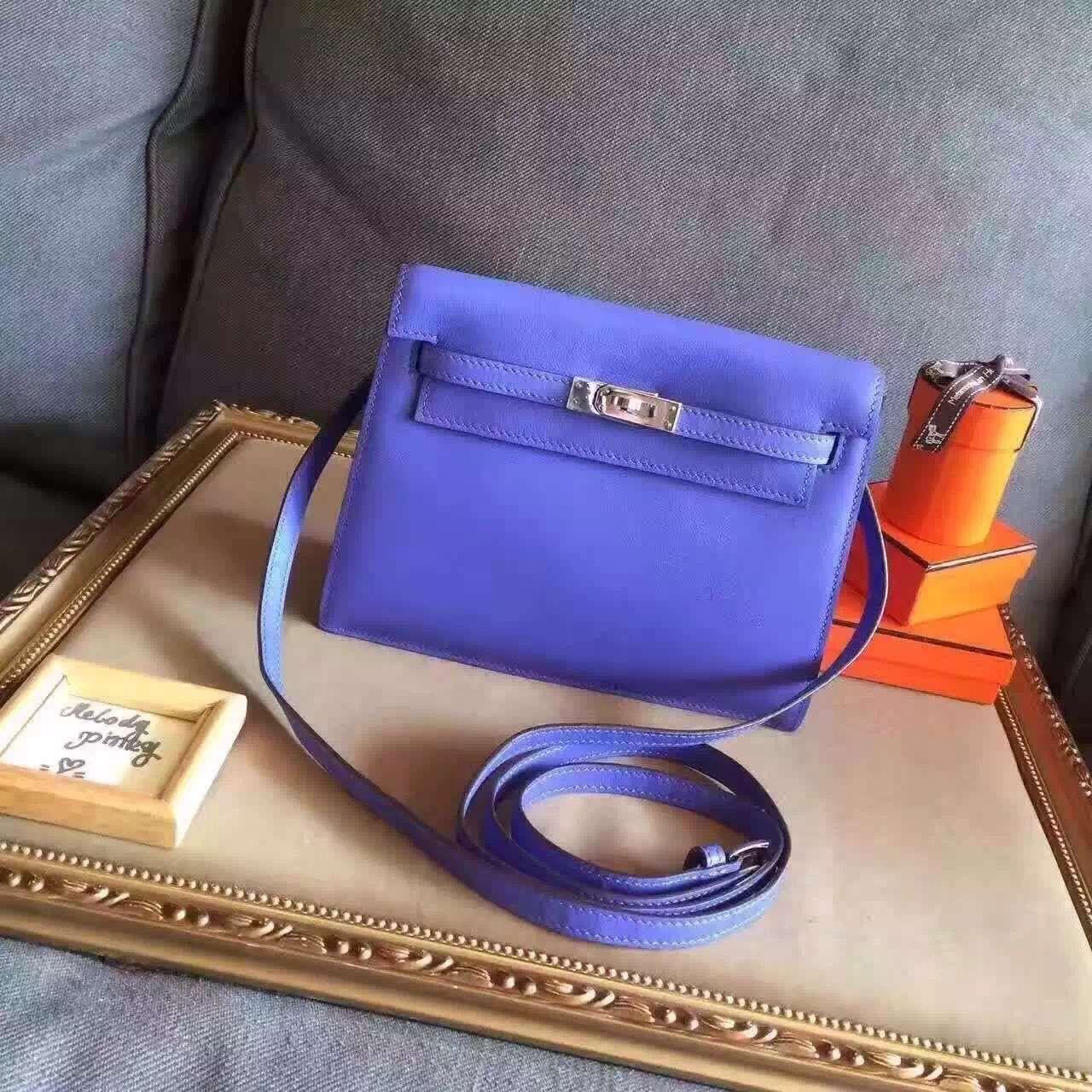 639641d464d8 Limited edition! Hermes kelly danse bag purple