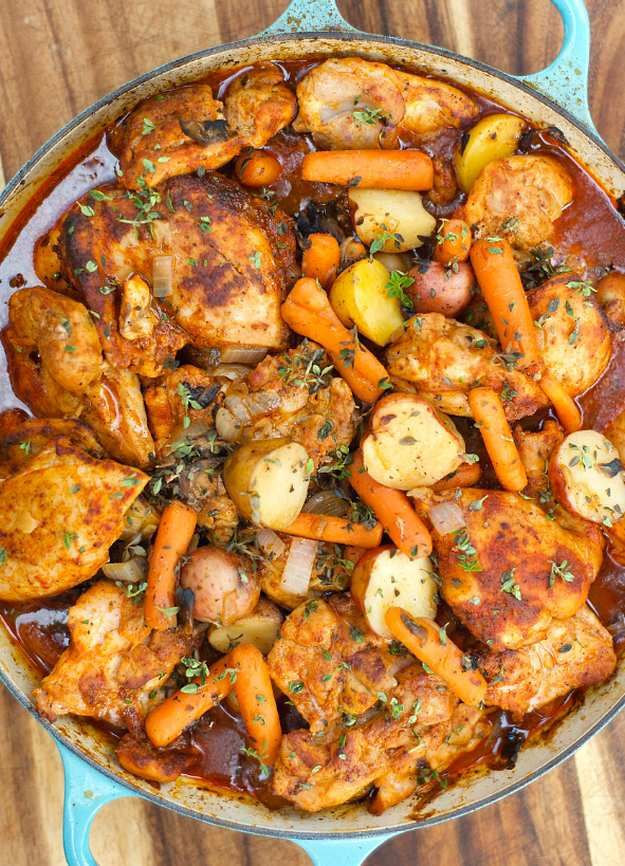 25 Christmas Dinner Ideas Guaranteed To Make The Night Memorable Recipes Paprika Chicken Thighs Pot Recipes