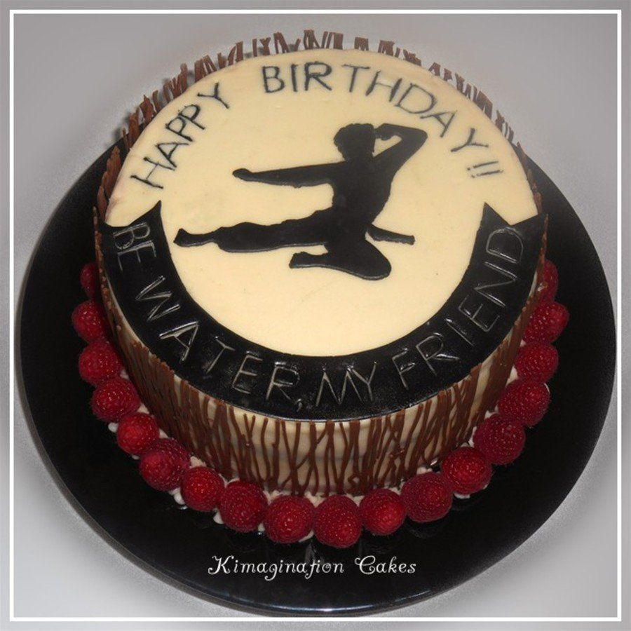 Bruce Lee on Cake Central Cake, Chocolate wrapping