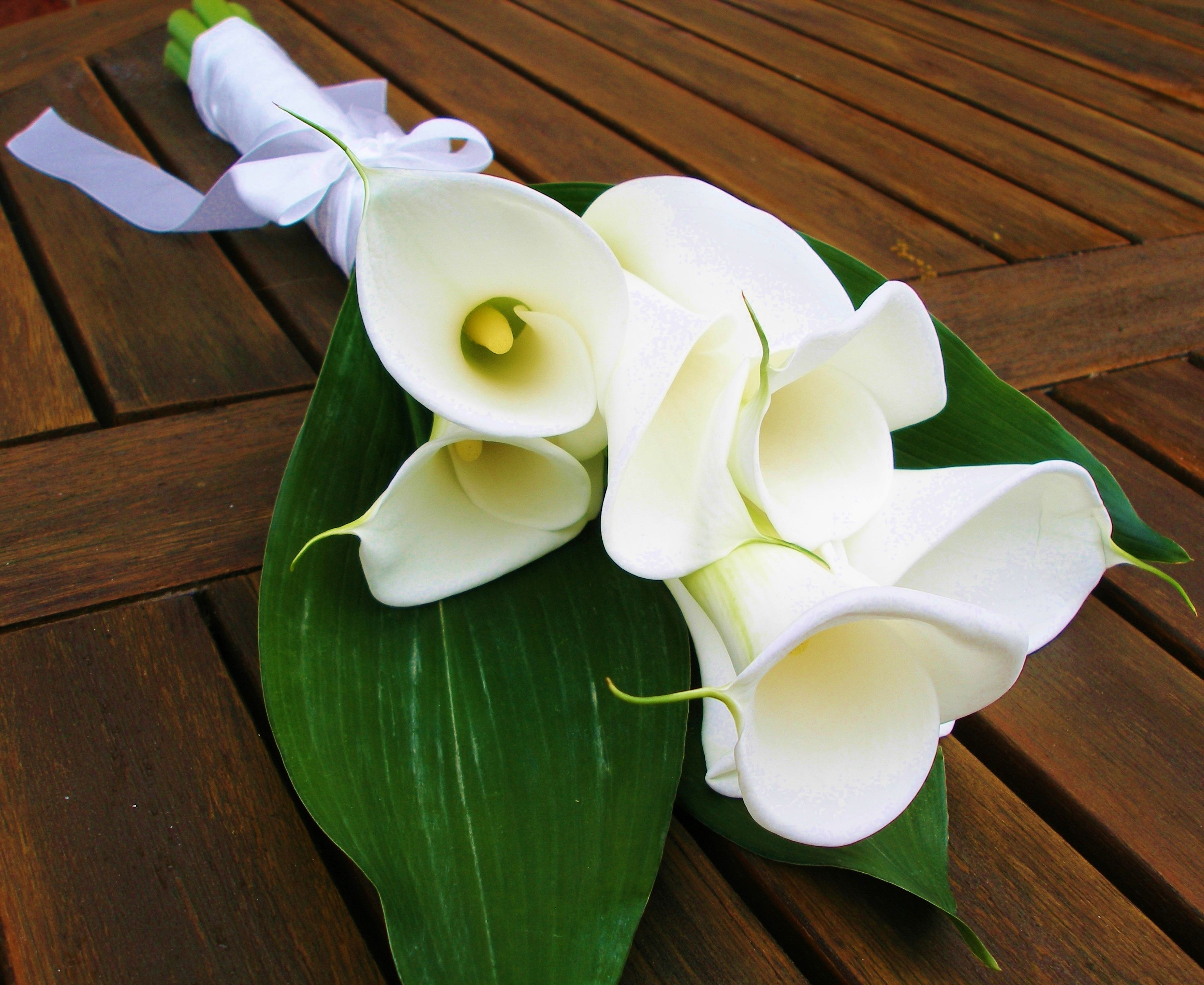 Stunning Ivory Calla Lilies Part Of Our 150 Fixed Price Wedding