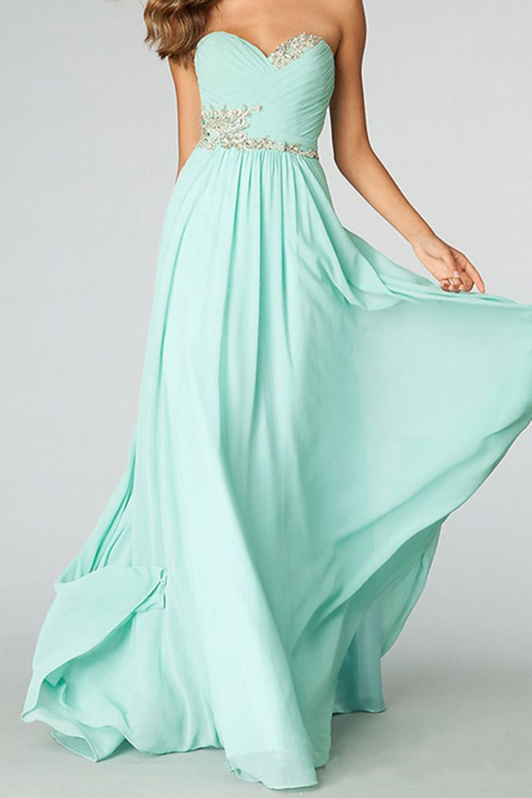 2014 Sweetheart Pleated Bodice A Line Full Length Dress Embellished ...