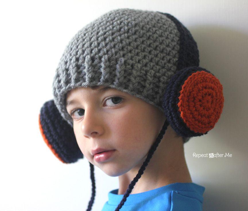 Crochet Headphones Hat   Gorros, Gorros de crochet y Tejido