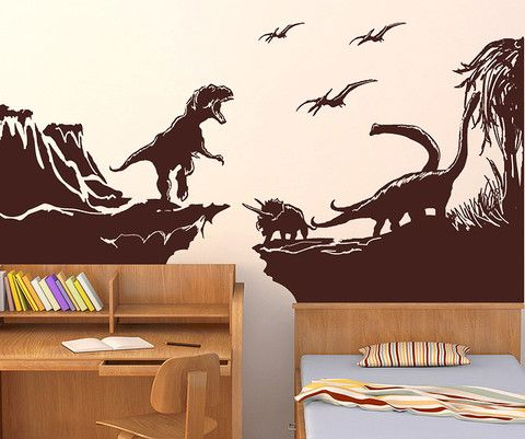 Vinyl Wall Decal Sticker Dinosaur World GFoster Винил - Custom vinyl wall decals dinosaur