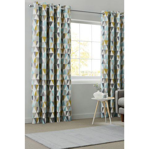 Rideaux oeillets imprim g om trique next 3suisses curtains lounge curtains dining room for Rideaux imprimes