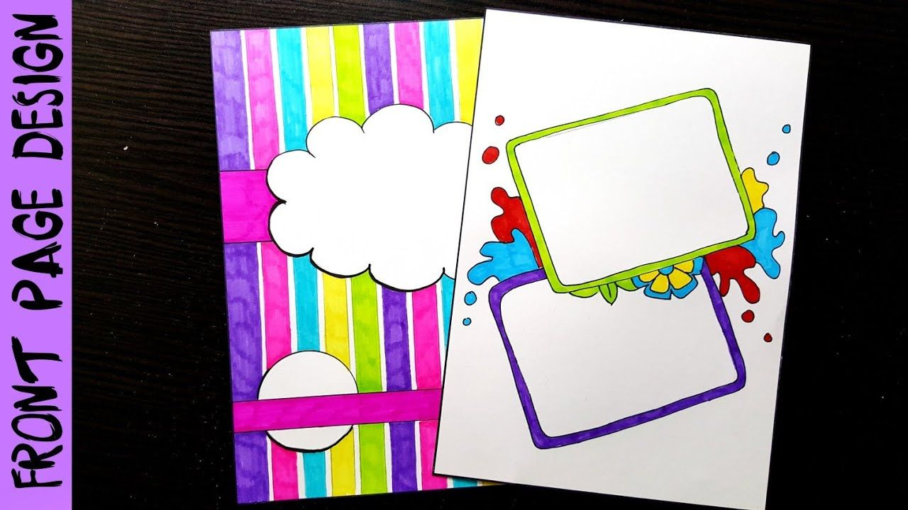 Notebook cover ideas front page design for school project decorate file border also awesome doodles images in handwriting fonts letter rh pinterest