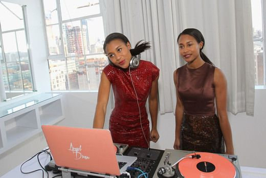 NEW YORK, NY - FEBRUARY 14: DJs angel + dren perform at SheaMoisture at Laquan Smith F/W 2016 NYFW at Jack Studios on February 14, 2016 in New York City. (Photo by Bennett Raglin/Getty Images for SheaMoisture)