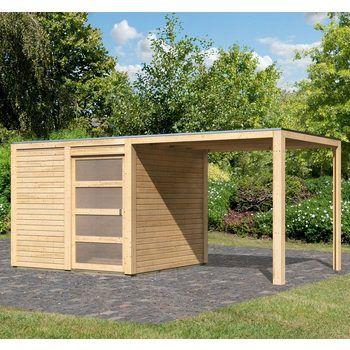 KARIBU Gartenhaus »Cubussi«, BxT 246x246 cm Outdoor