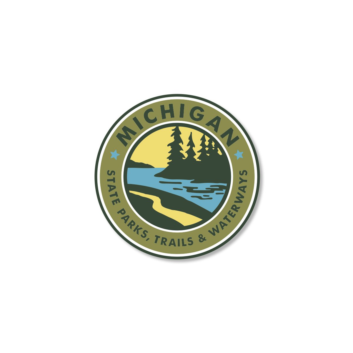 Parks Trails Waterways Michigan Sticker Michigan sticker