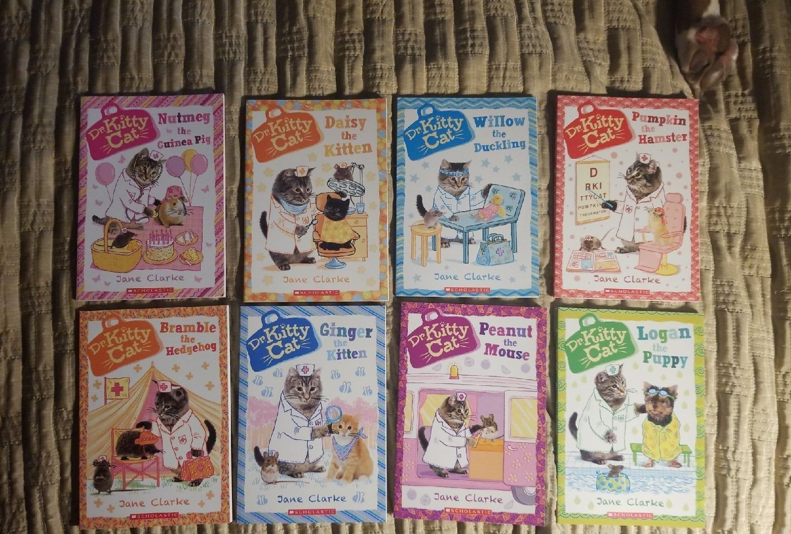 This Collection Of Dr Kitty Cat Books Is Purr Fect For Young Readers Super Cute Photographs Of Real Puppies And Kittens Combin Cat Books Cats Cats And Kittens