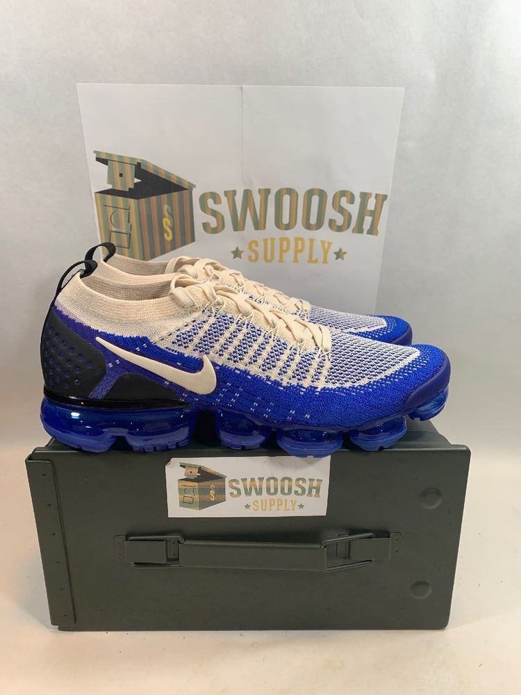 dfa2605b4d8 Nike Air Vapormax Flyknit 2.0 Racer Blue Light Cream Sz 10 Men 942842-204   Nike  RunningShoes