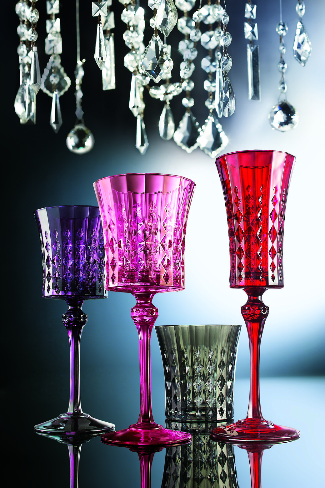 Cristal Darques Lady Diamond.Cristal D Arques Paris Lady Diamond Range Now In Colors Drinkware