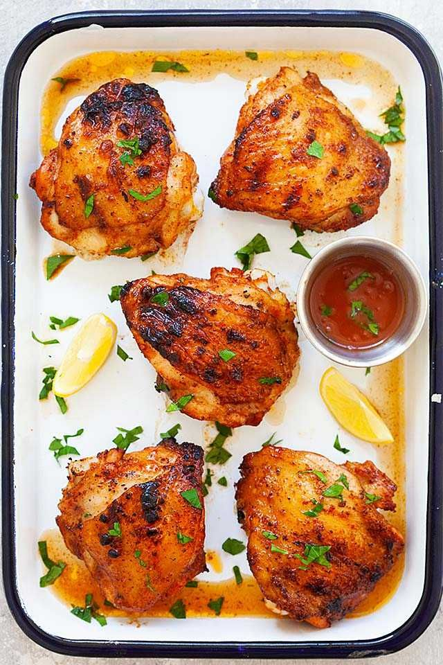Photo of Juicy grilled chicken thighs