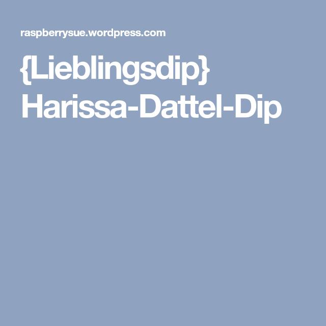{Lieblingsdip} Harissa-Dattel-Dip