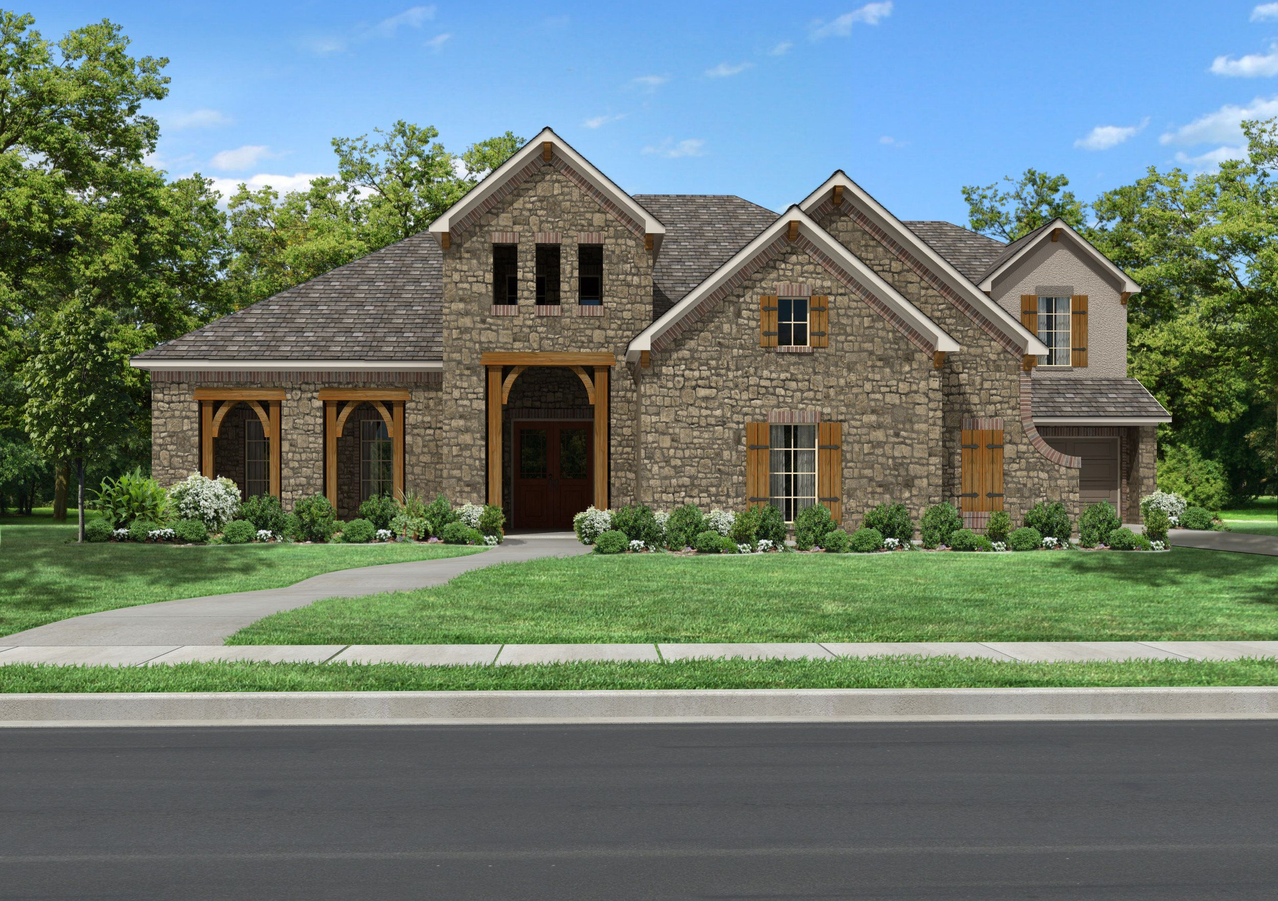 Newmark Homes Floor Plans Villa Gamberaia Plan Beautiful Two Story With Front Porch