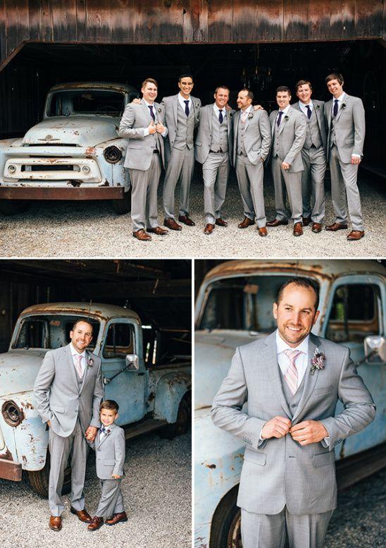 heather gray groomsmen suits