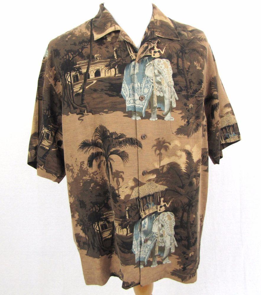 2797ca1e Tommy Bahama Hawaiian Shirt Large Elephant India Palace Bikini Martini Loop  Camp #TommyBahama #Hawaiian