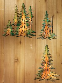 Wild Wings Home Decor 5512469101 Pine Tree Metal Wall Art With