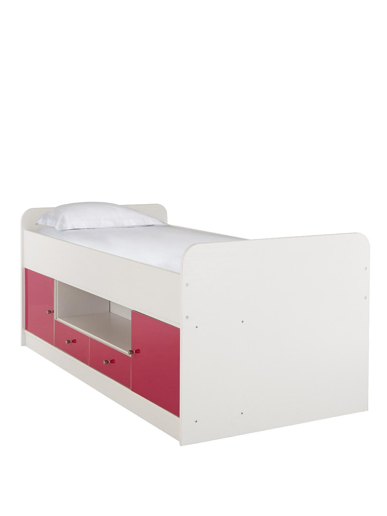 Kidspace Bedroom Furniture Cosmo Cabin Bed With Optional Mattress Pink Money And Beds