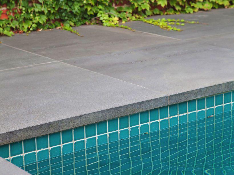 square edge bluestone coping, | pool | Swimming pool tiles, Pool ...