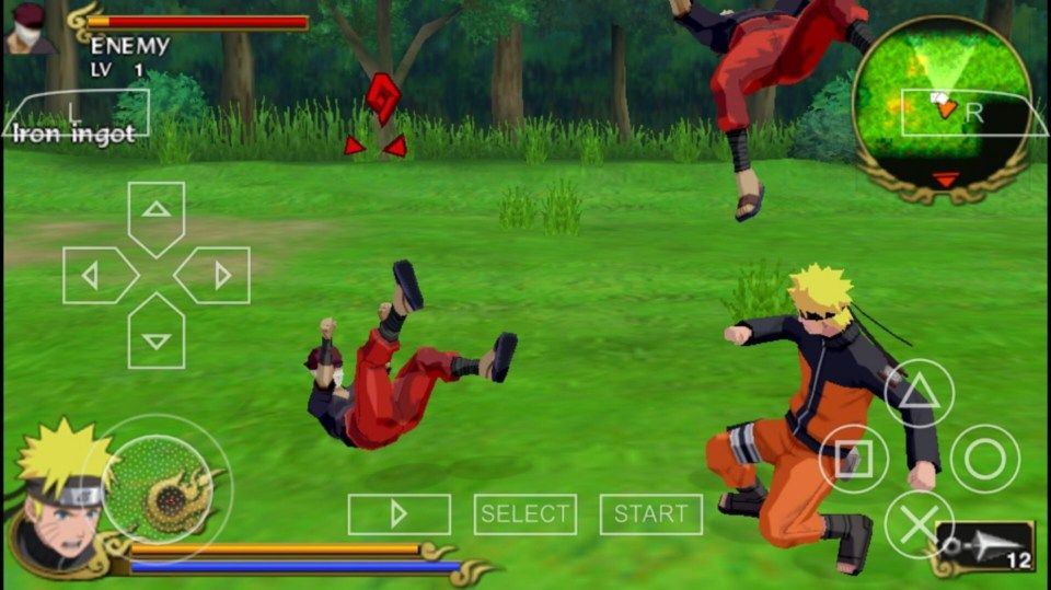 Anime Smash Fight Naruto Vs Sasuki Perform Dropkicks Flame