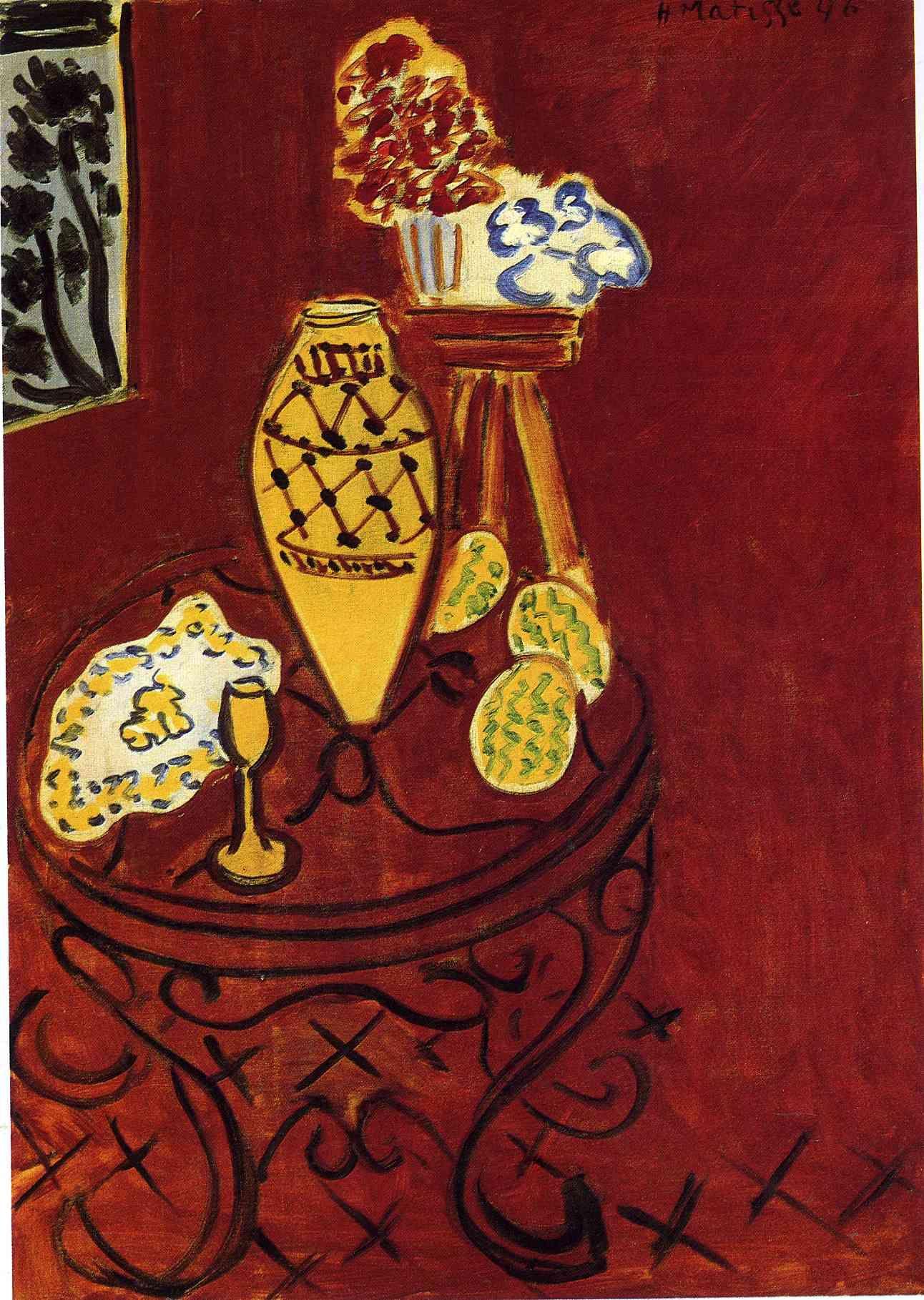 Interior in Venetian Red - Henri Matisse | Henri Matisse(1869-1954 ...