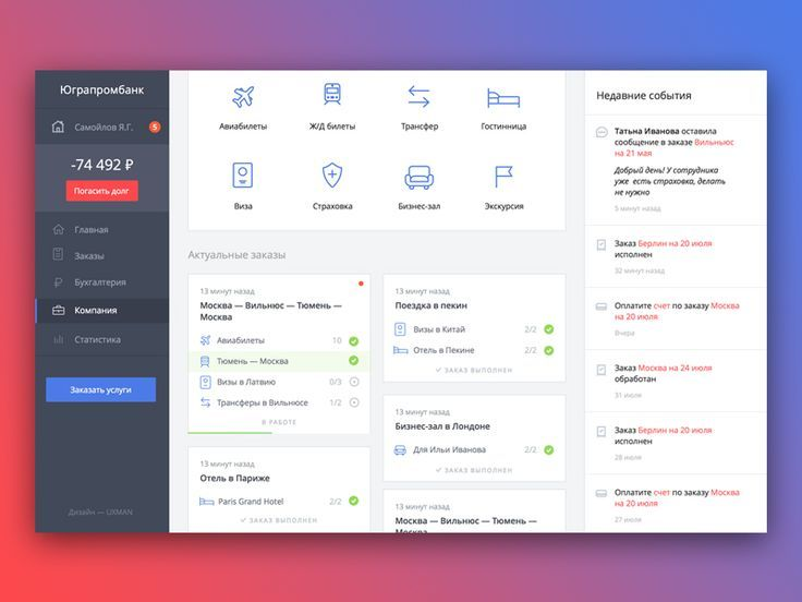 Dashboard for B2B travel service MOBILE  WEB DESIGN INSPIRATION - dashboard design inspiration
