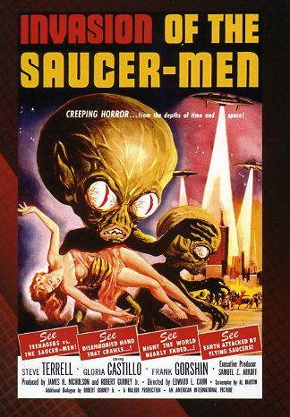 invasion of the saucermen 1950s horror movie posters
