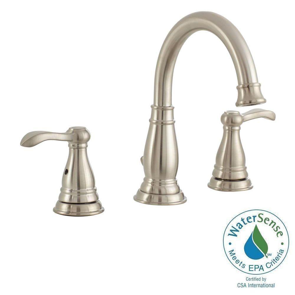 Delta Porter 8 In Widespread 2 Handle High Arc Bathroom Faucet In