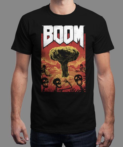 """Nuclear Boom"" is today's £9/€11/$12 tee for 24 hours only on Pin this for… 