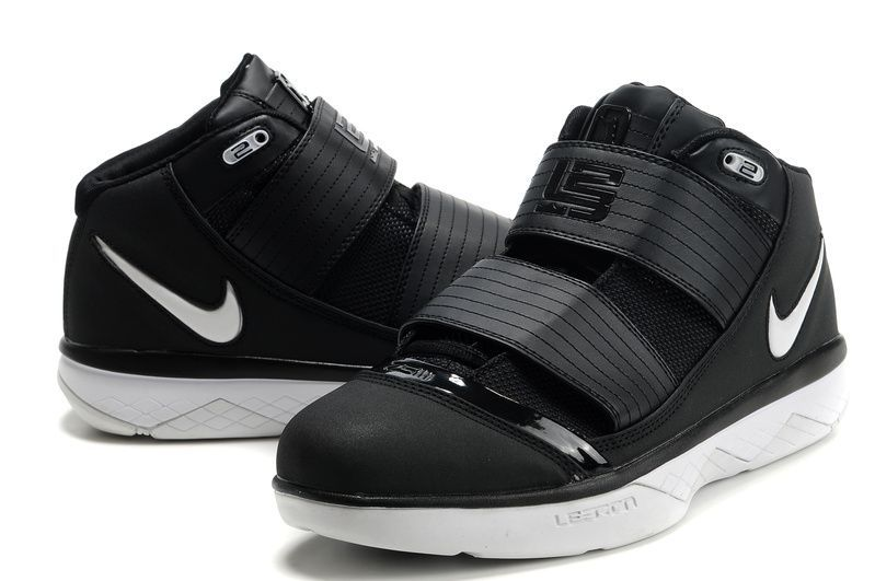 lebron james basketball shoes double strap black | Black White Men\u0027s Basketball  Shoe [LEE710004]