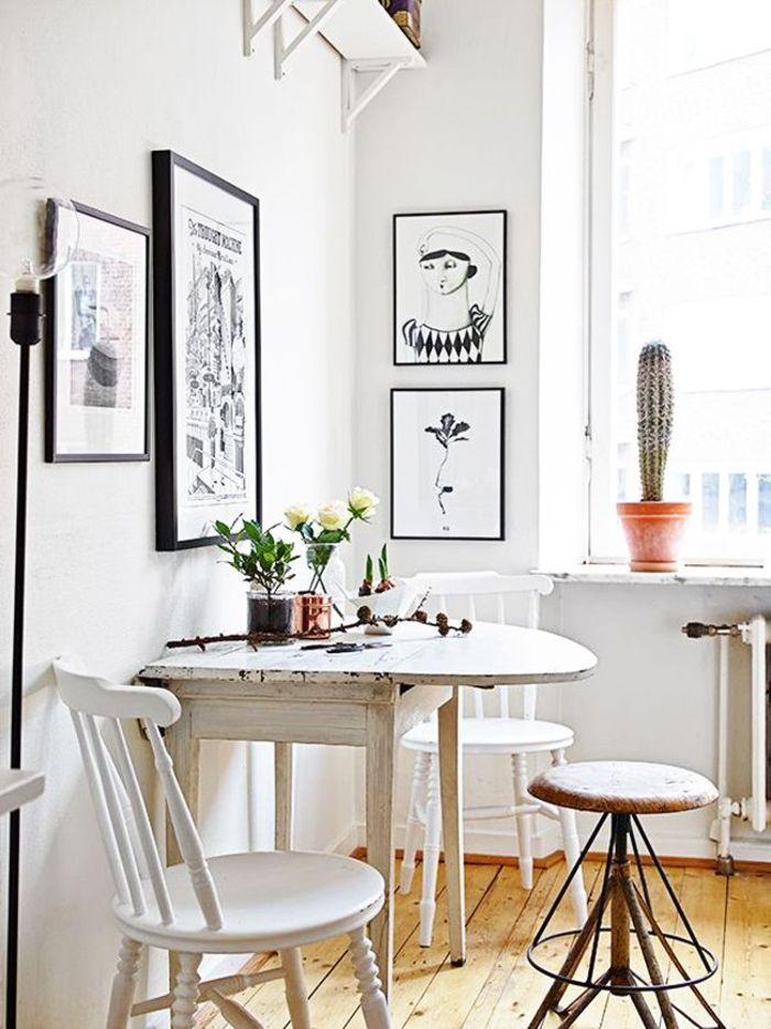 einrichtungsideen küche einrichtungstipps esstisch stühle vintage ...