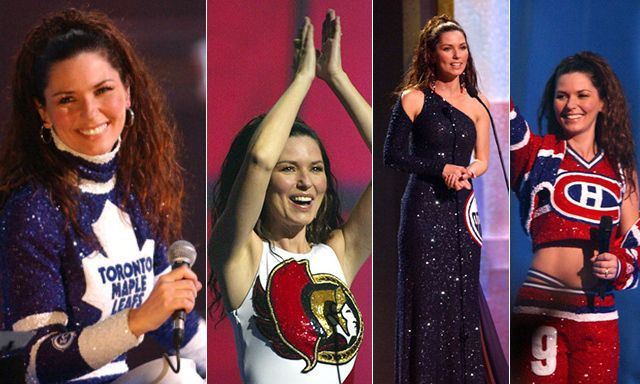 d01f057646b Shania Twain isn t just a fan of one Canadian hockey team – she loves them  all. That s the message she sent when she hosted the 2003 Juno Awards