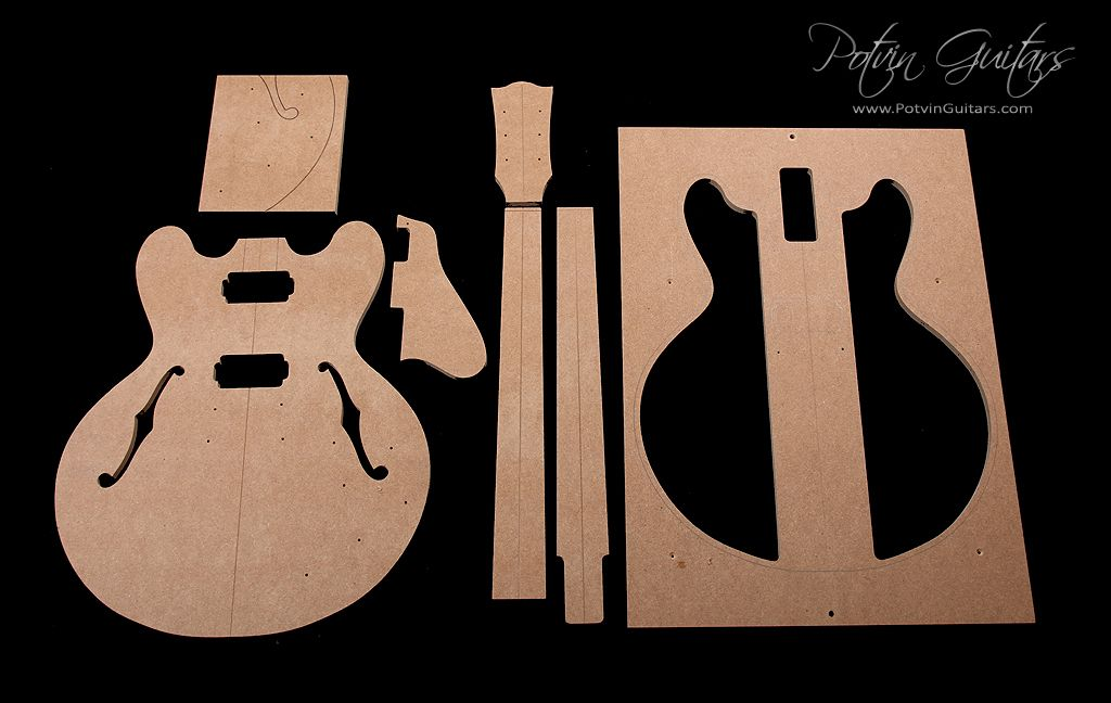 335 Style Archtop Guitar Template Set