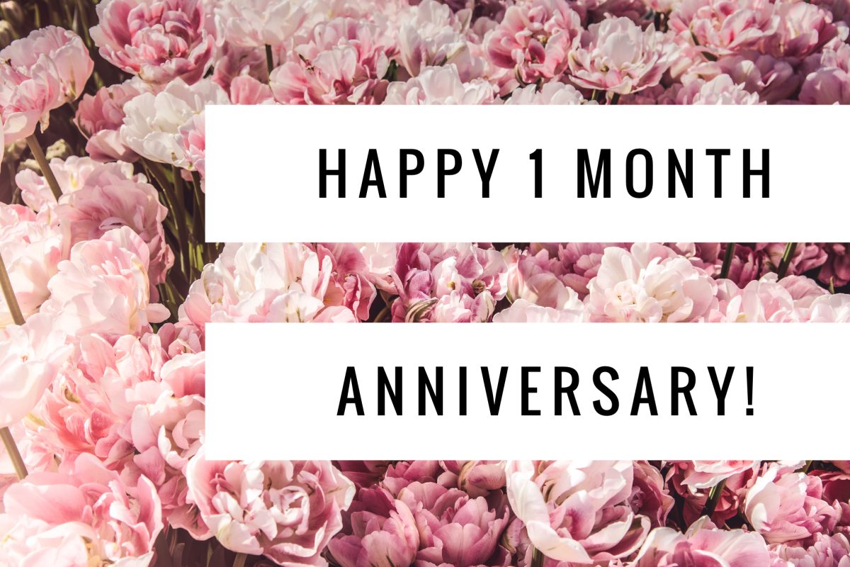 Happy 1 Month Anniversary Blogger Blogpost Peonies 1month Anniversary Happy Bliss Bloglife Li 1 Month Anniversary Happy 1 Month One Month Anniversary