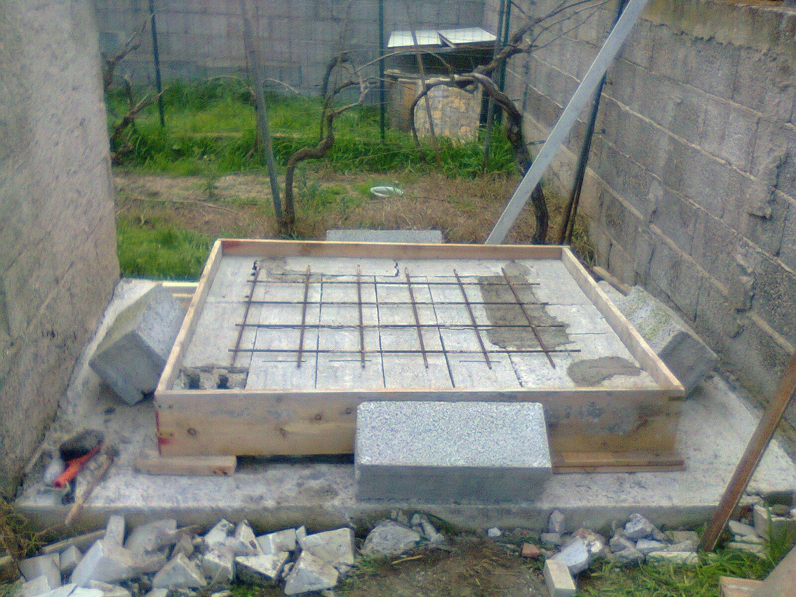 Reinforced concrete base. Antoni Batzu. 2014 Sardinia - Italy