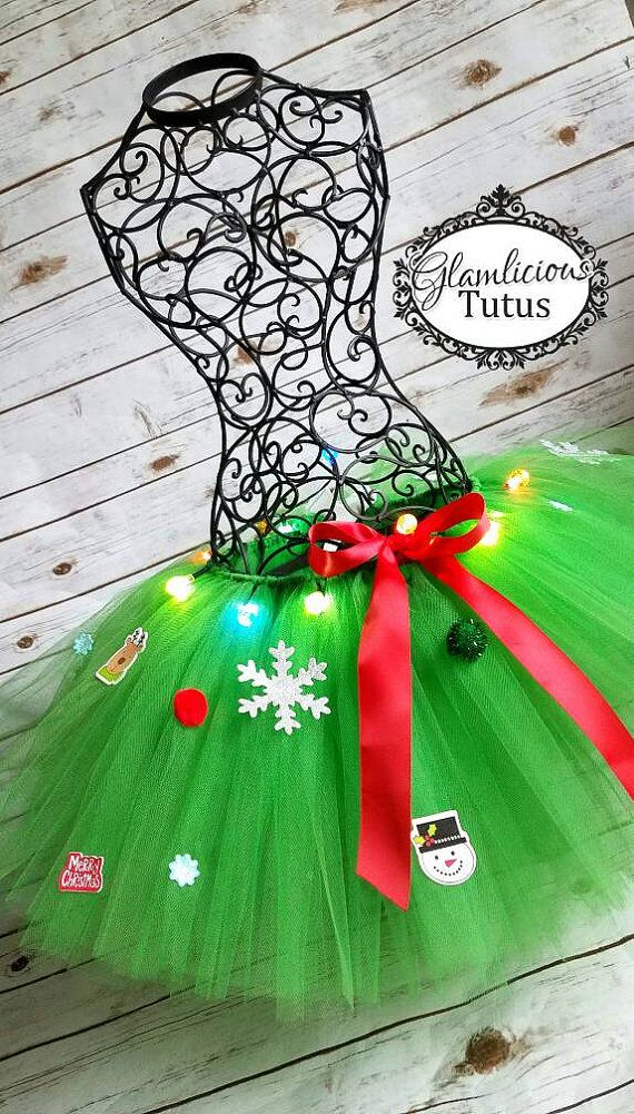 c18c9ae0f Christmas tree Tutu | LIGHT UP tutu | Newborn- Adult plus size ...