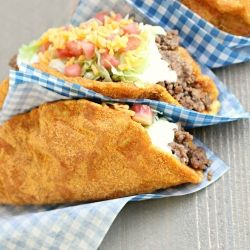 Copycat Doritos Locos Taco Bell recipe. That's right, make a better version at home.