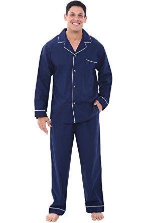 48e98be12 Alexander Del Rossa Mens Cotton Pajamas
