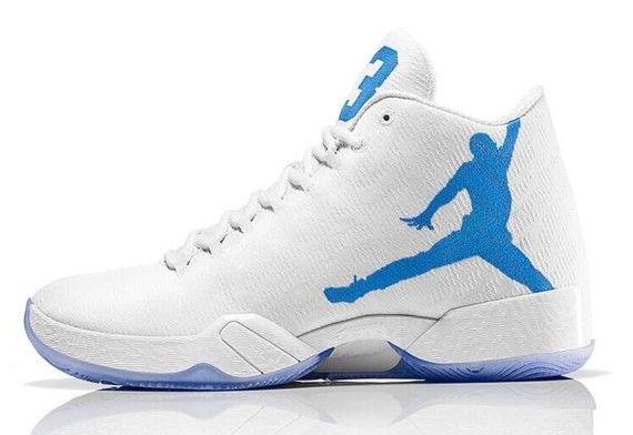 buy online b7bfe d6b0f Air Jordan 29 White   Carolina Blue Jordan 13, Westbrook Shoes, Air Jordan  Sneakers
