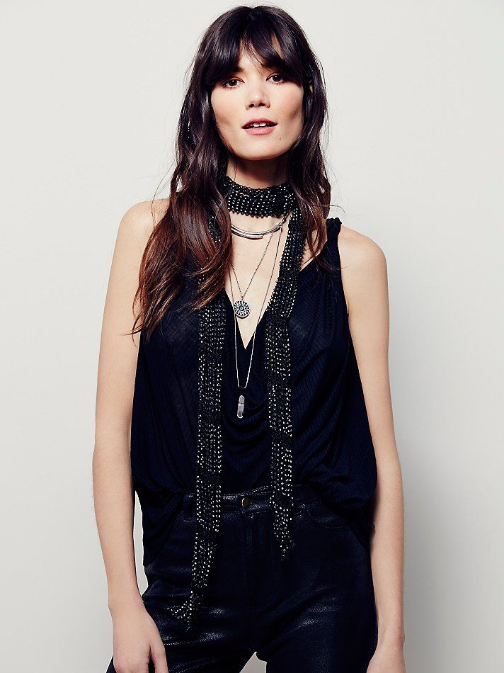 09bdbee75b338 Stoned Love Macrame Skinny Scarf   Beautifully beaded macramé skinny scarf.  Dress it up or dress it down, this style looks great with anything!